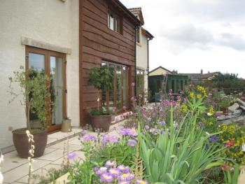Cames mead B&B Meare Green Farm - Front garden