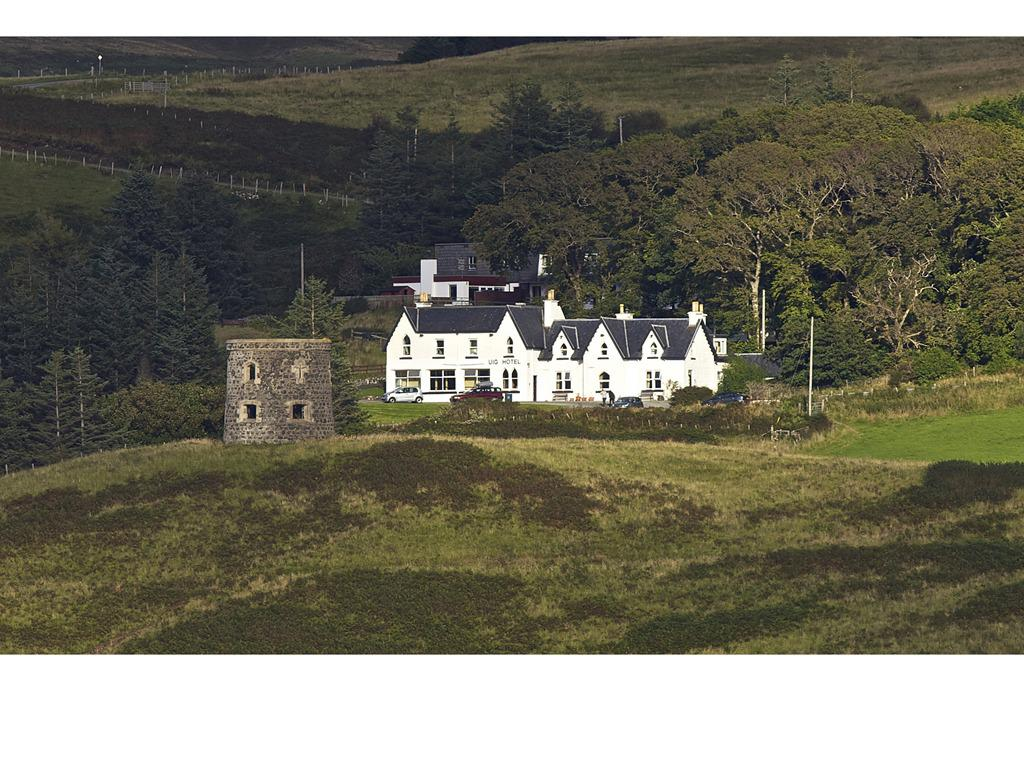 The hotel seen from Uig bay