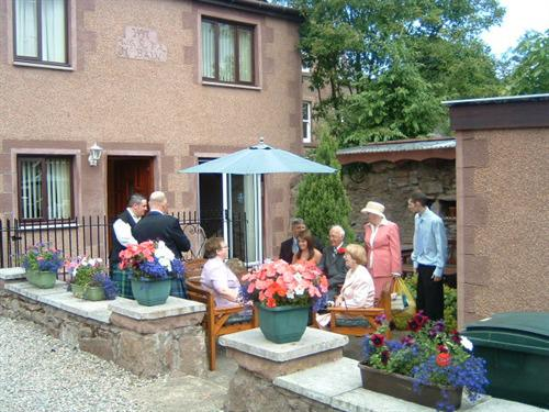 Patio for self catering cottages.