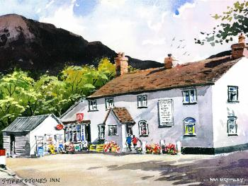 The Stiperstones Inn - Watercolour bu Ken Bromley