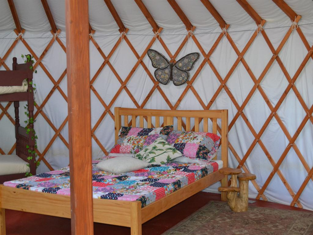 Kids Love Yurts bedroom area
