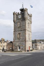 Dufftown's iconic Clock Tower a moment from your porch