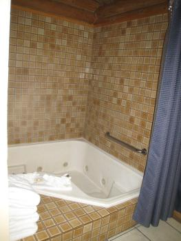 "ALL cabins provide jetted tubs however our ""love birds"" cabin has a longer jetted tub"