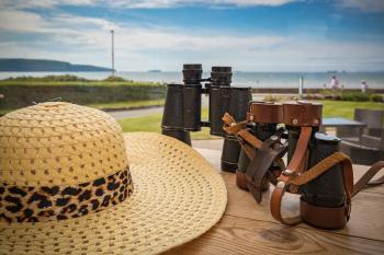 Binoculars in lounge