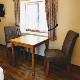 Where possible we have put larger tables in the rooms so there is more space for guests to enjoy their breakfast or evening meals as room service.