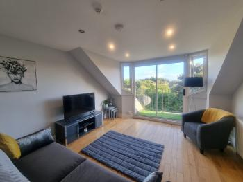 10c Stirling Road - The living room and balcony