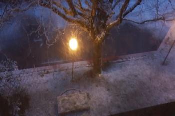 Vista da una camera un giorno di Neve