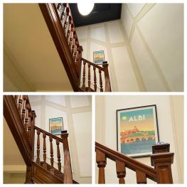 La cage d'escalier Le Rez de Jardin Albi