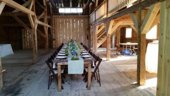 The Andover Barn inside