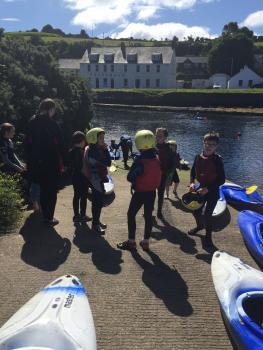 Fun in Cushendun River