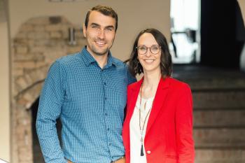 Ihre Gastgeber Rebecca Bartsch und Martin Hengst