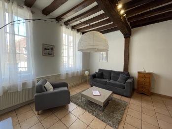 Appartement Le Coche d'Eau Auxerre Les Quais - Salon spacieux et lumineux