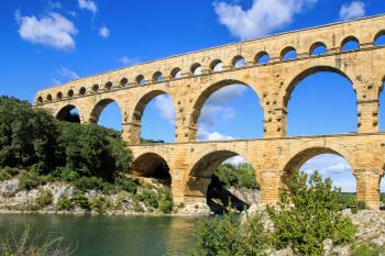 Kayak au pont du Gard