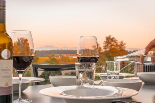 Abendstimmung Terrasse