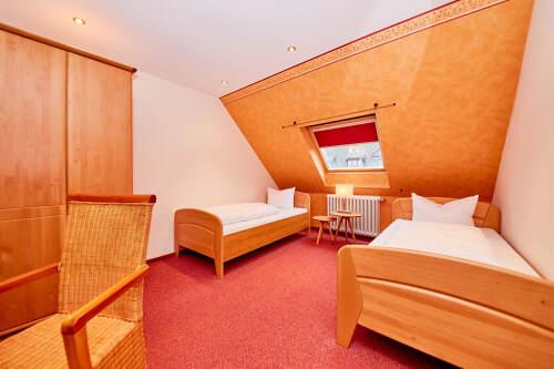 Zweibettzimmer-Klassisch-Eigenes Badezimmer-Stadtblick