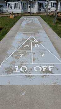 Shuffleboard and Basketball court