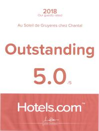 Outstanding Hotels.com, Expedia : 5.0/5