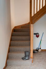 Staircase to first floor, triple single room with ensuite WC