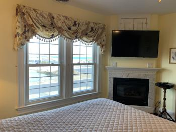 Ocean and lake view from king bed