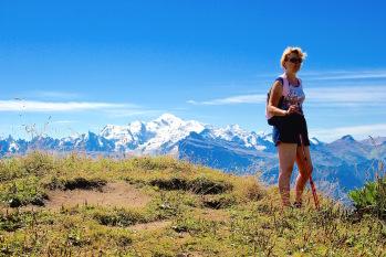 Le Mont Blanc depuis la Pointe de Chamossière, une balade facile et superbe
