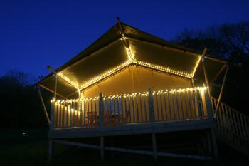 Beautifully lit decking for relaxing evenings