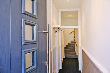 Private Entrance and Hallway, ideal for storing Hiking & Cycling gear - stairs leading to living accommodation on 2nd & 3rd Floors