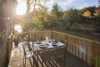 The Bridge House - Terrace, beck garden with the patio.