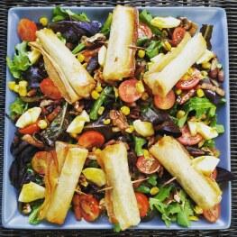 salade de chévre chaud croustillant