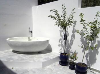 Outdoor Marble Bath