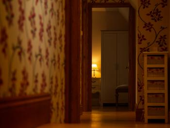 hall way to master bedroom