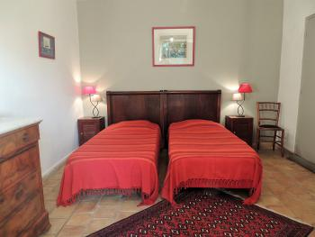 Chambre Orange 2 lits en 90 X 190
