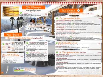 Carte 1/2 pension - Desserts & Glaces