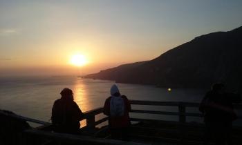 Sunset at Sliabh Liag cliffs