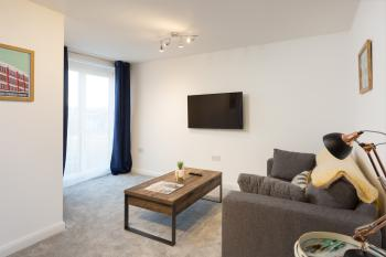 The sofa can be set up as a double bed for over 3 guests.