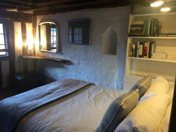 double bed over archway