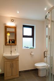 Bathroom with shower & bath, ground floor