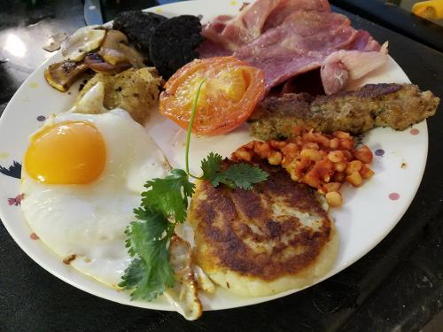 Amber House signature breakfast with all ingredients home-made and locally sourced