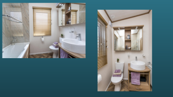 Family bathroom with full sized bath and overhead shower