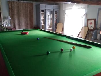 The snooker room.