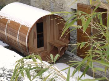 Sauna privatif du Gîte Artist'au Chat
