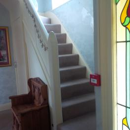All rooms are located on 1st floor up a flight of 13 stairs