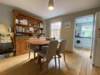 Old Post Cottage dining room and kitchen