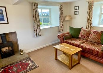 Snowdrop Cottage living room (self-catering)