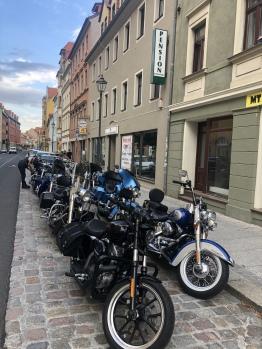 Harley Fahrer zu Besuch