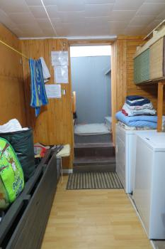 Laundry room with machines