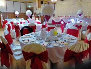 Our function room set for a wedding