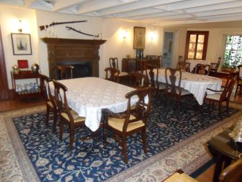 Mayhurst Dining Room - set for 16 with tea and coffee service . Can seat 30.