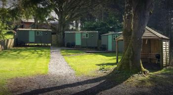 Shepherds Huts & BBQ area