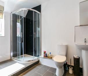 Large Shared Luxury Bathroom with Shower & WC