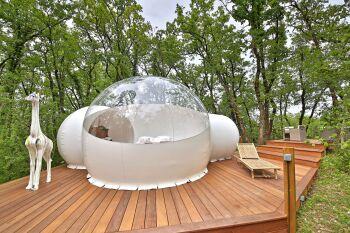 terrasse bulle Vénus et son spa